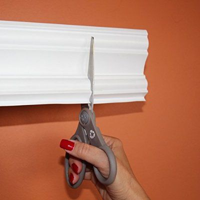 Easy Crown Molding Peel and Stick Crown Molding, 4-Inch