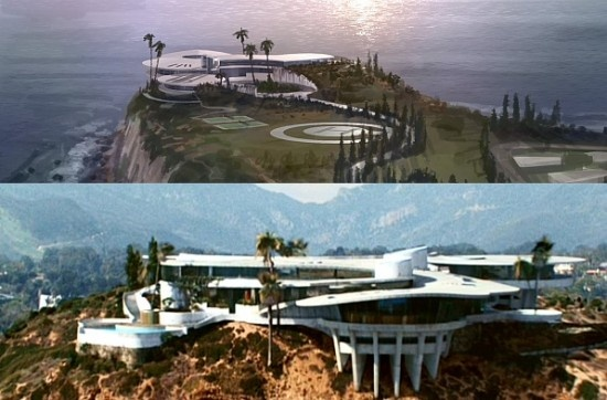 Iron Man's house of the future on Point Dume, a California State Park.