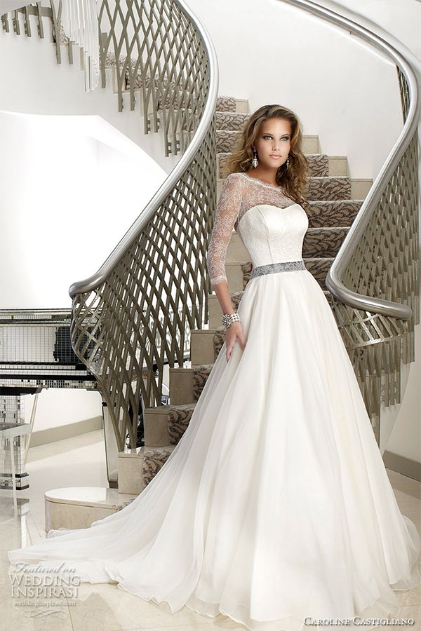 oscar collection caroline castigliano madamoiselle #weddingdress #weddings  More at http://www.weddinginspirasi.com/2012/02/21/caroline-castigliano-wedding-dresses-the-oscar-collection/
