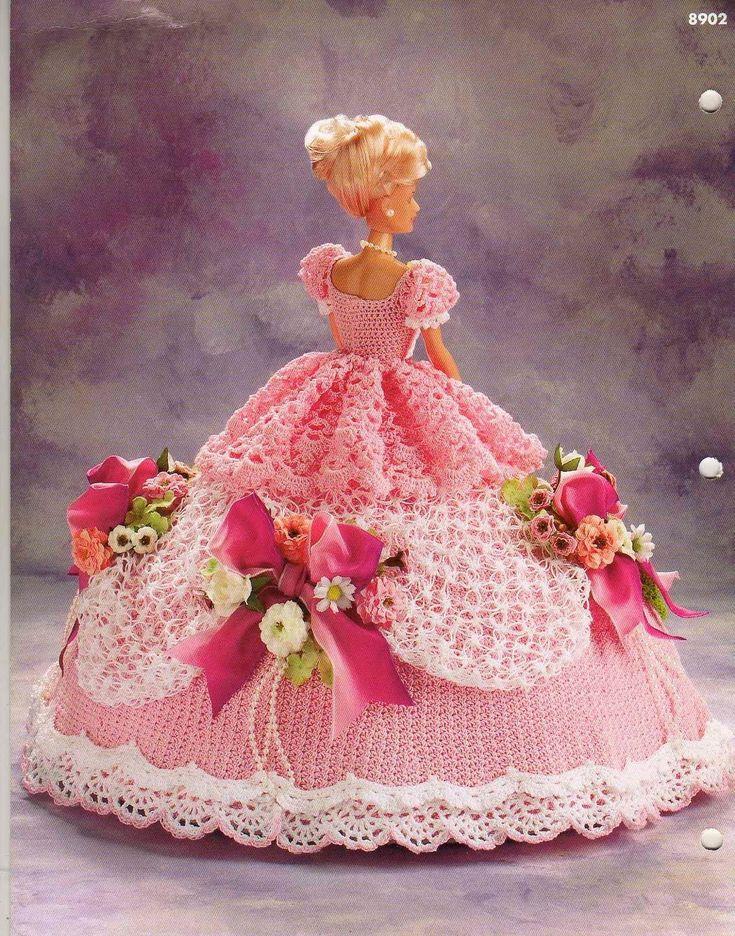 Barbie Crochê Miniaturas e Coisas Mais - De Tudo Um Pouco e Muito Mais: Vestido de Crochê Para Barbie de Annie Potter - Old South Collection
