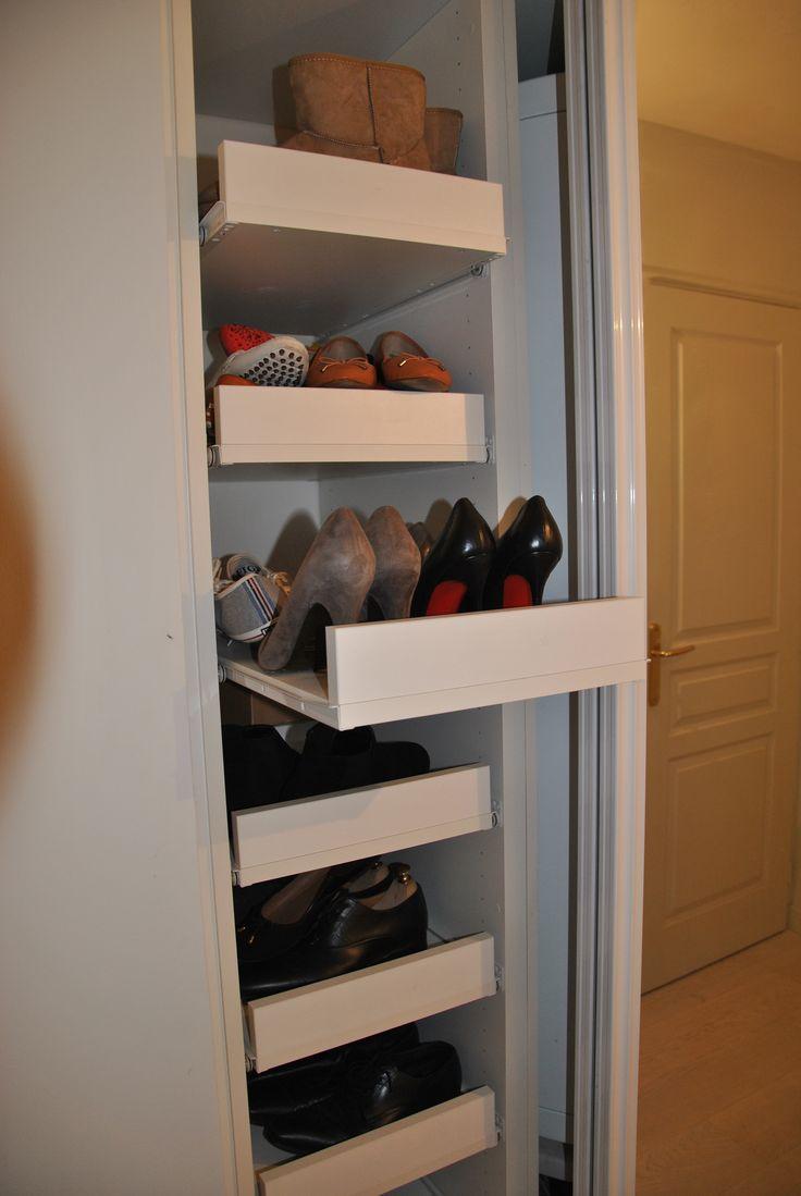les 25 meilleures ides de la catgorie rangement chaussures sur pinterest meuble chaussure rangement chaussure diy et tagres chaussures pour - Comment Ranger Ses Chaussures Dans Un Placard