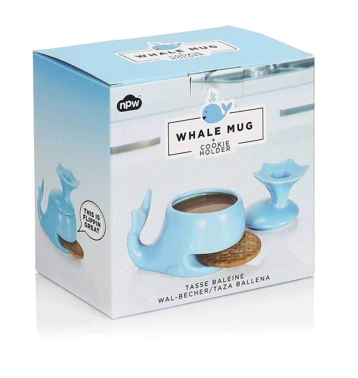 Tazza con porta-biscotti a forma di balena: Amazon.it: Casa e cucina