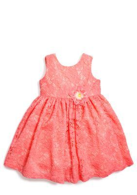 Heartworks by Blueberi Boulevard  Coral Lace Dress