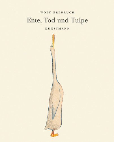 Ente, Tod und Tulpe. Kleine Geschenk-Ausgabe von Wolf Erlbruch http://www.amazon.de/dp/388897657X/ref=cm_sw_r_pi_dp_O6zCwb0CKS04N