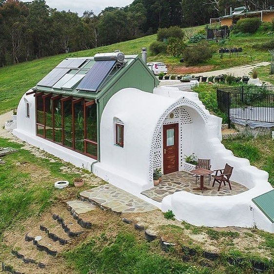 """Tierra Cascadia on Instagram: """"Earthship """"technology"""" is ancient techniques with modern living. Utilizing the natural cooling elements of the Earth&…"""
