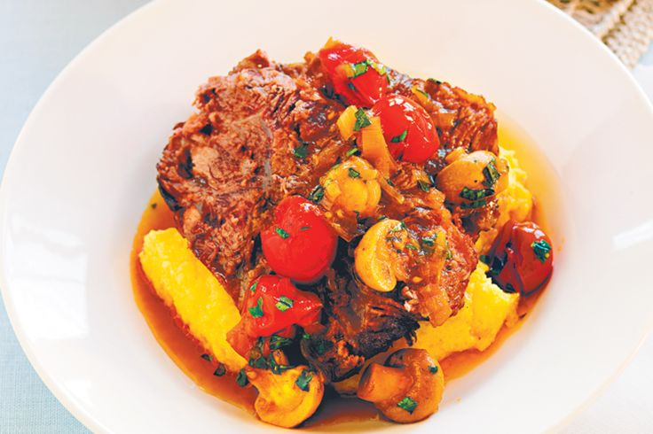 This beef, red wine and mushroom recipe requires a slow cooker, but includes instructions for cooking in the oven.