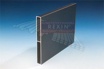REXOboard Aluminium-Balkonbretter in anthrazit mit Struktureffekt