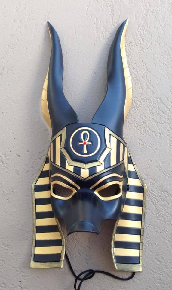 Custom Anubis Egyptian Jackal Leather Mask by senorwong.deviantart.com on @deviantART