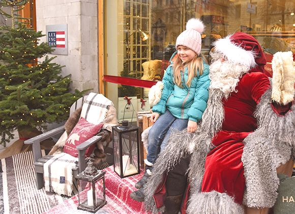 Lexington Company Santa Event Flagship Store Birger Jarlsgatan Stockholm Pictures
