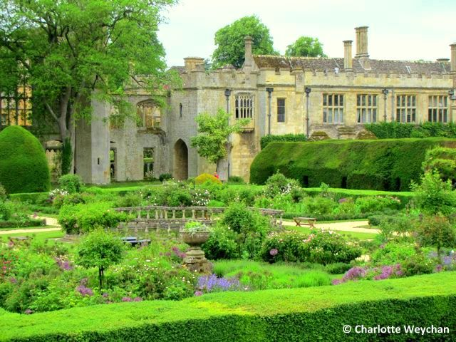 Sudeley Castle, Gloucestershire, England.     King Henry VIII, Anne Boleyn, Lady Jane Grey, Queen Elizabeth 1 and Richard III