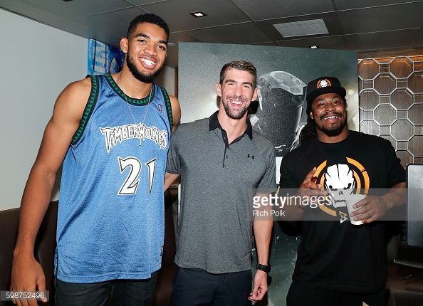 NBA player Karl-Anthony Towns, Olympic swimmer Michael Phelps and NFL... News Photo | Getty Images