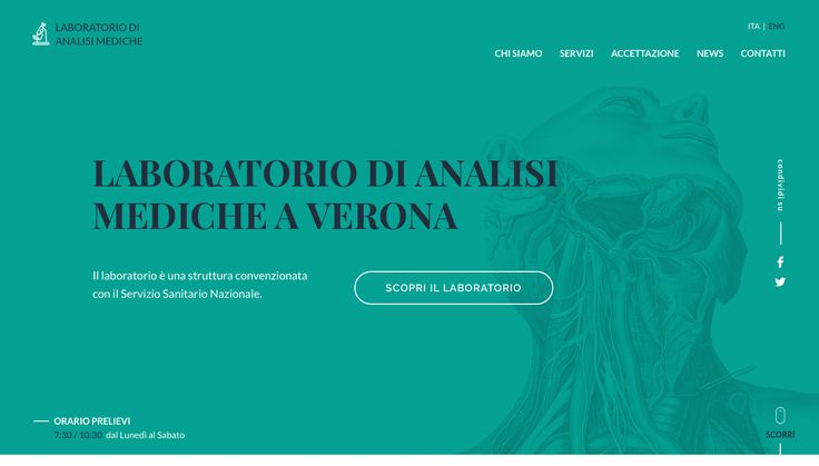 Home Page for a analytical laboratory in Verona (Italy)