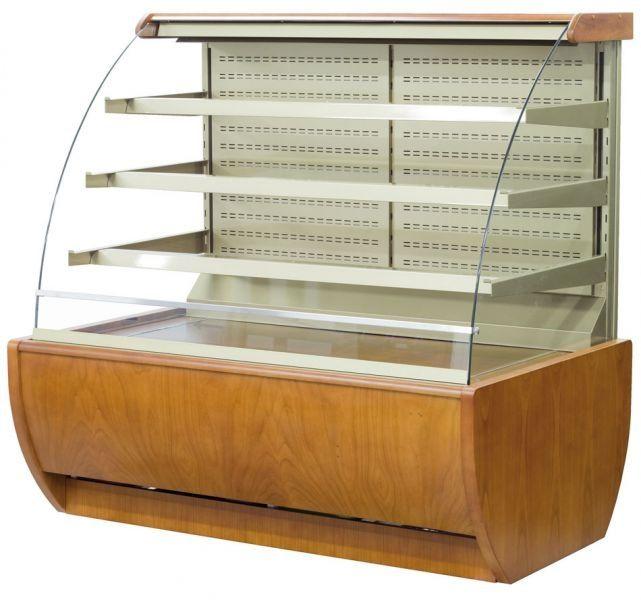 Igloo JA60WW-OPEN Jamaica Wood Open Pastry Case
