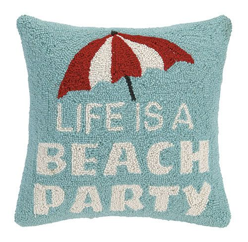 beach party hook pillow