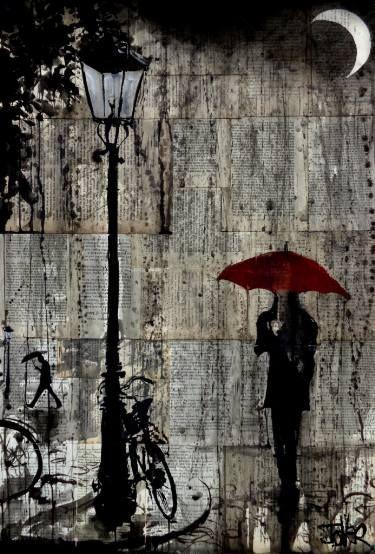 "Saatchi Art Artist Loui Jover; Drawing, ""night rain"" #art"