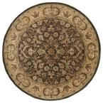 Mystic William Chocolate (Brown) 7 ft. 9 in. x 7 ft. 9 in. Round Area Rug