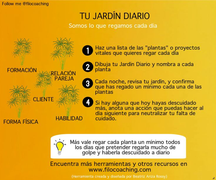 Somos la suma de lo que regamos y cultivamos cada día http://filocoaching.com/tu-jardin-diario-herramienta-de-crecimiento-personal/