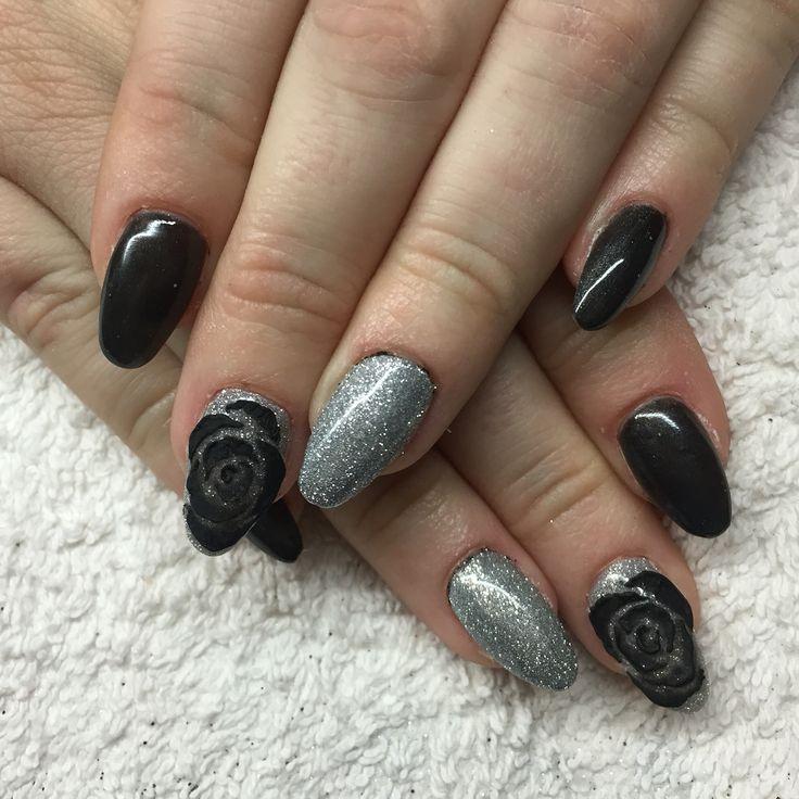 Cnd brisa gel és fekete rózsák :)