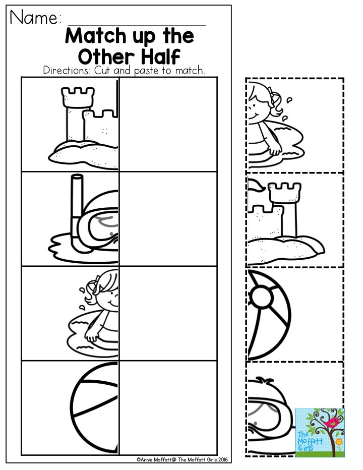 Cut and paste math worksheets for preschoolers