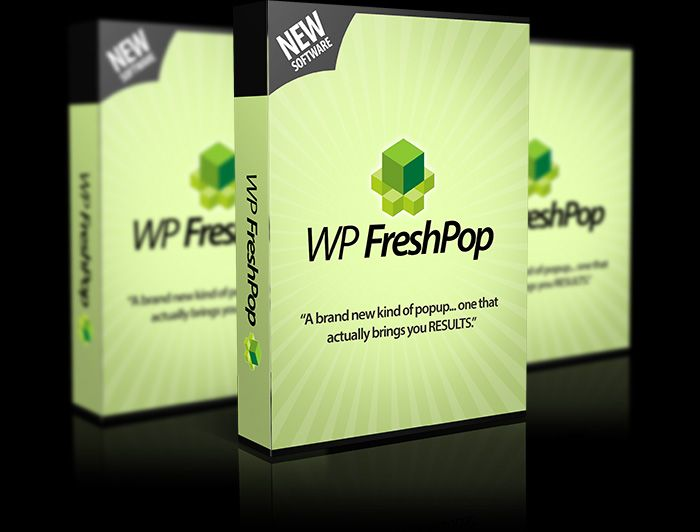 WP FreshPop - This front end version allows users to add and customize this new powerful popup technology. A technology that does NOT annoy the customer.
