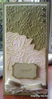 Manhattan Rose folder: Card Idea, Birthday Card, Vintage Wallpapers, Embossing Folder, Embossing Card, Beauty Embossing, Manhattan Roses, Manhattan Flower, Paper Crafts