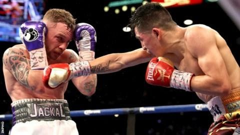 Frampton suffered the first defeat of his career when beaten by Leo Santa Cruz last January  Former two-weight world champion Carl Frampton will face Mexican Horacio Garcia in his comeback bout in Belfast on 18 November.  The fight will be Frampton's first contest since moving from long-time manager Barry McGuigan's Cyclone Promotions to Frank Warren's stable. Garcia 27 has lost three of his 37 pro bouts including a defeat by Japan's former world champion Hozumi Hasegawa. The Mexican beat…