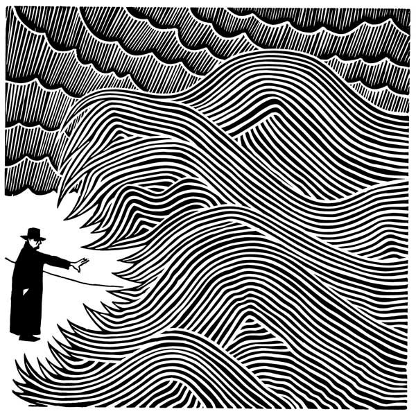 linocut by Stanley Donwood
