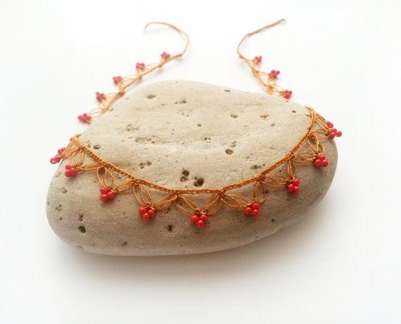 Gypsy anklet Boho beach jewelry Boho jewelry Crochet by GuruMIme