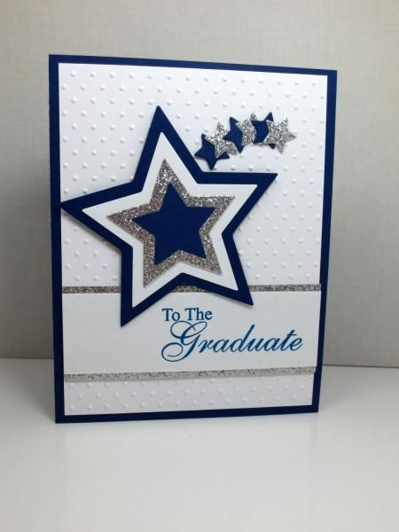 Silver and Navy Graduation by Eabbott387 - Cards and Paper Crafts at Splitcoaststampers
