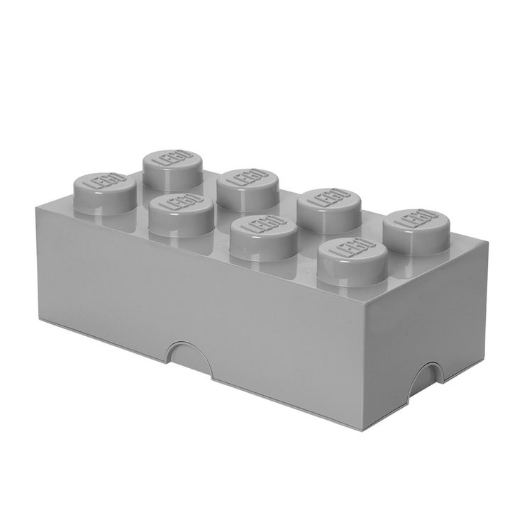 LEGO - STORAGE BRICK 8 (GREY) from minikids.no