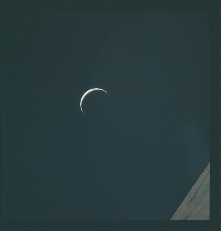 Apollo 15 Hasselblad image from film magazine 97/O - lunar orbit view