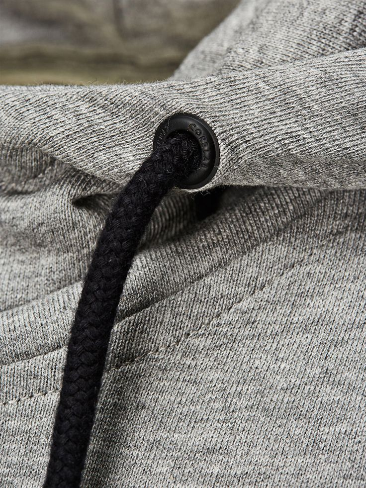 MANCHES COURTES CAPUCHE SWEAT-SHIRT À CAPUCHE, Light Grey Melange
