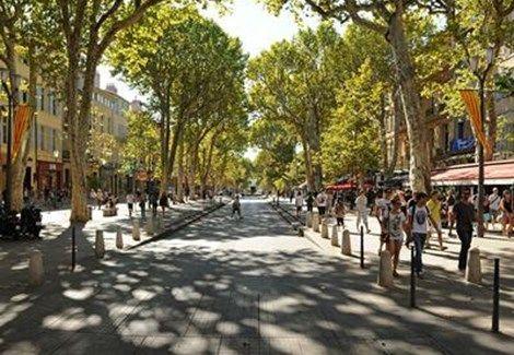 Le cours Mirabeau d'Aix en Provence