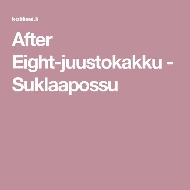 After Eight-juustokakku - Suklaapossu