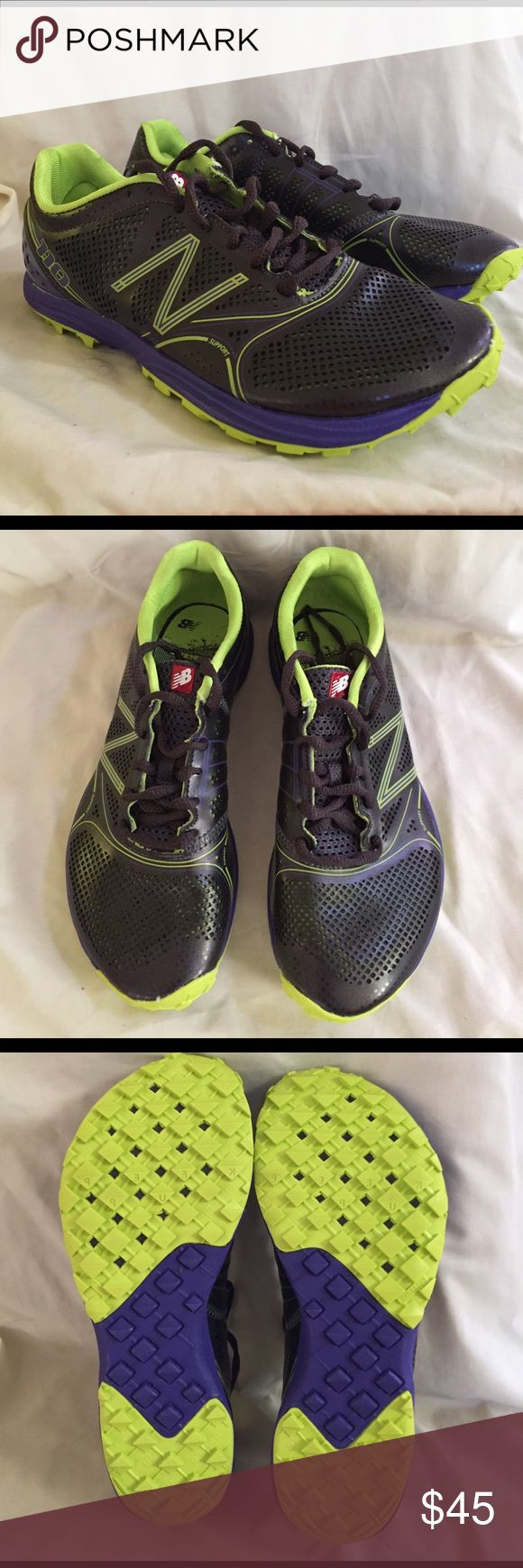 New Balance WT110BE minimalist trail running shoes Brand new in box.  Black/Blue-violet/neon yellow. New Balance Shoes Athletic Shoes