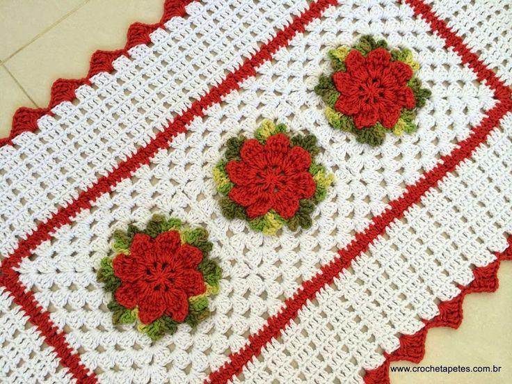 25 melhores ideias sobre tapete retangular de croche no