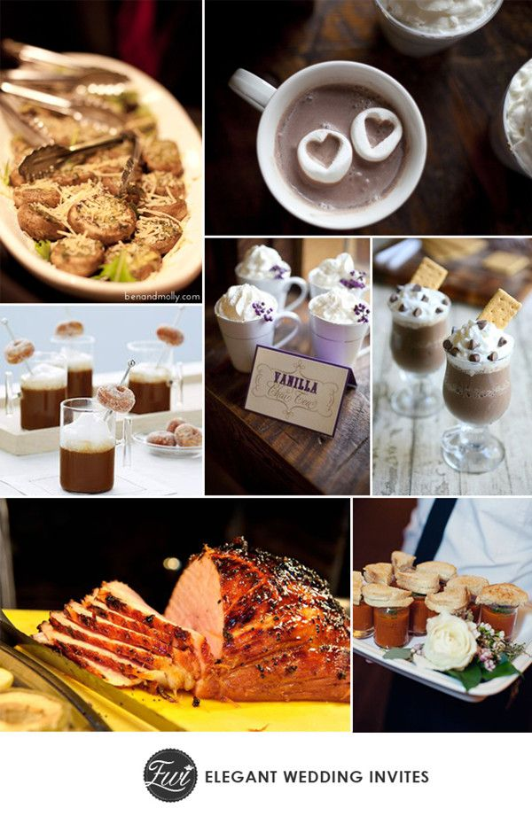 comfortable food and drinks for 2014 winter wedding trending ideas #weddingideas #winterweddings #elegantweddinginvites