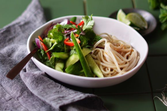 Udon Noodle and Fresh Herb Salad - Maggie Beer