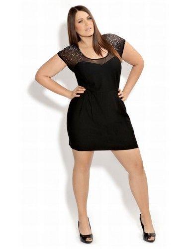 vestidos negros cortos para gorditas n - Buscar con Google