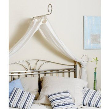 himmelbett set baldachin himmel stange weiss romantik look k che haushalt for. Black Bedroom Furniture Sets. Home Design Ideas