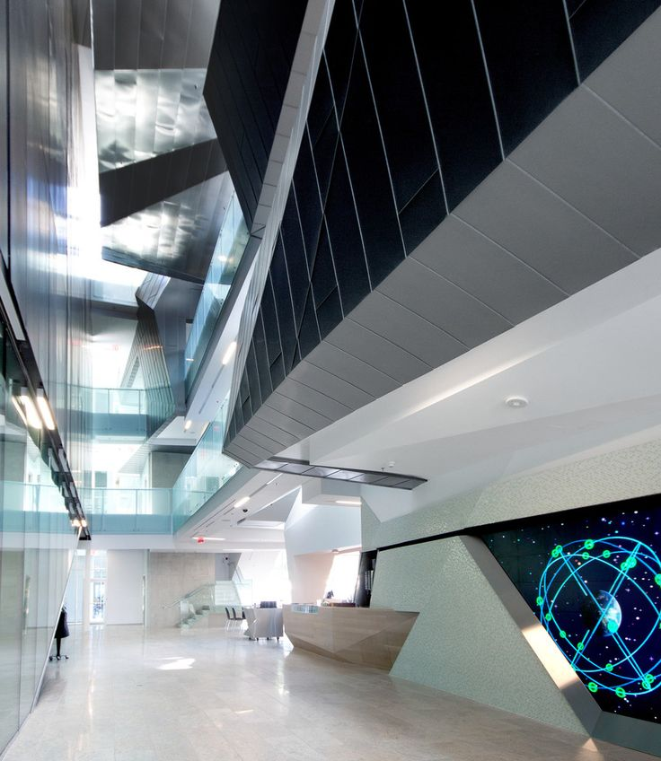 The Stephen Hawking Centre at Perimeter Institute II in Waterloo, ON (Canada) by Teeple Achitects Inc. Contractor: Flynn Canada Ltd, ©️️ Scott Norsworthy   #Architecture #QuartzZinc #AnthraZinc #Canada #Façade #Zinc #VMZINC #Chalet #StandingSeam #FlatLock