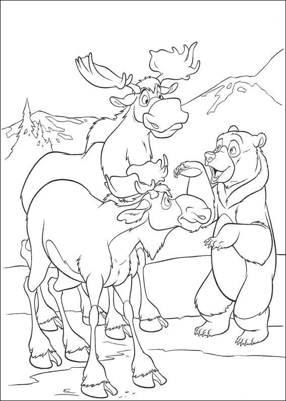 brother bear 2 coloring page - Brother Bear Moose Coloring Pages