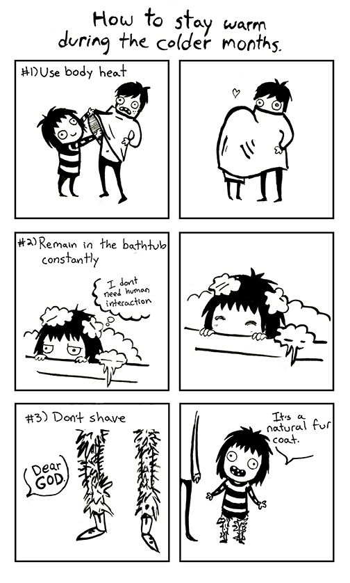 Comics Portfolio by Sarah Andersen_How to stay warm during the colder months