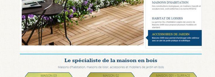 Supprimer    Dernière création de notre agence web ! Maison Sari, le spécialiste de la maison en bois.