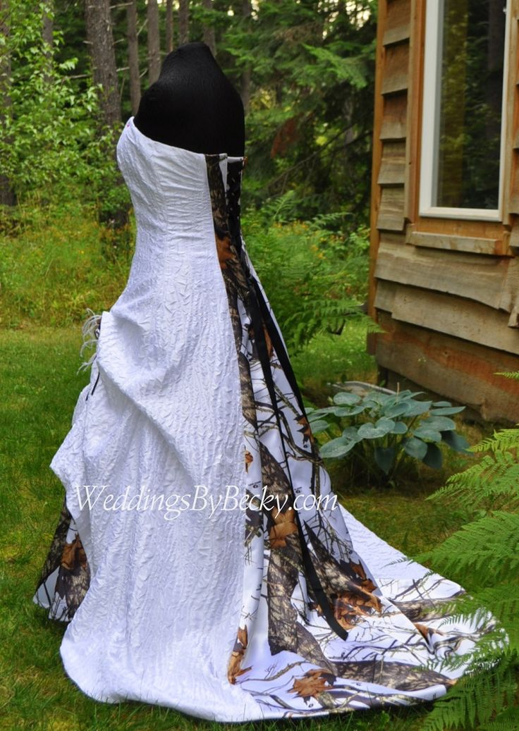 1000 images about camo wedding dresses and more on for Mossy oak camo wedding dress