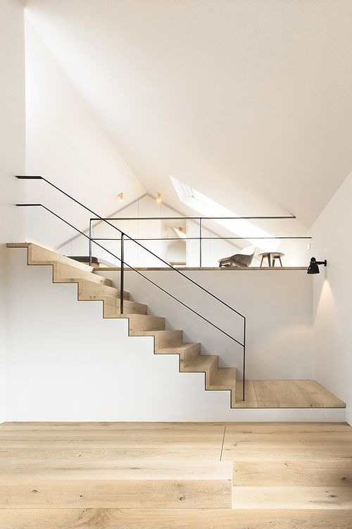 Raised areas. Wide stairs.