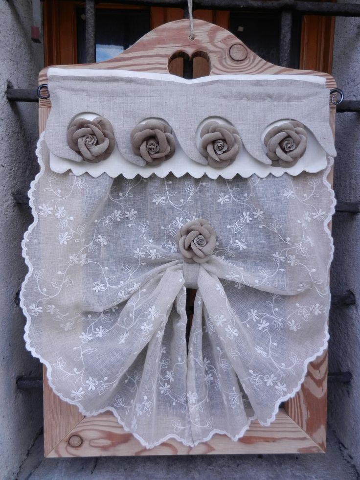 Tendina con rose su mantovana