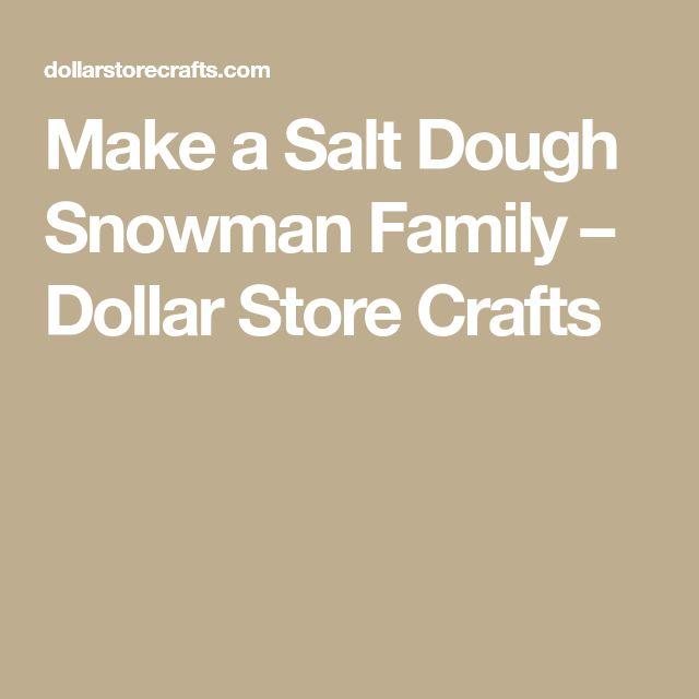 Make a Salt Dough Snowman Family – Dollar Store Crafts