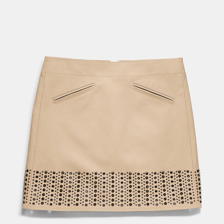 Coach | Khaki Grommet Cotton Bandeau Skirt | Lyst