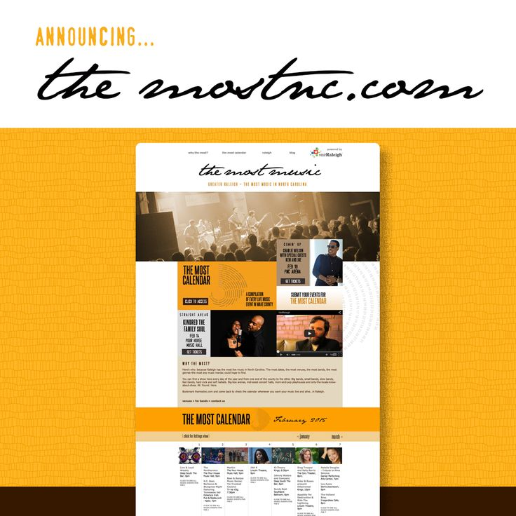 The first Raleigh area live music calendar imagined by music venues launches now: http://www.themostnc.com  #themostnc